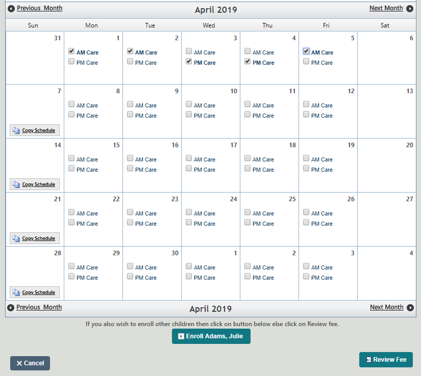 Calendar Program